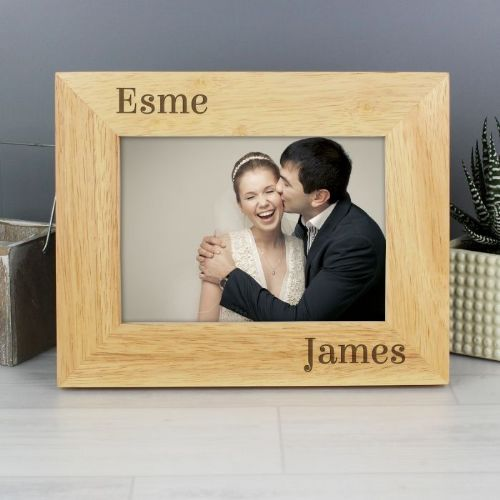 Couples Wooden Photo Frame - 6 x 4